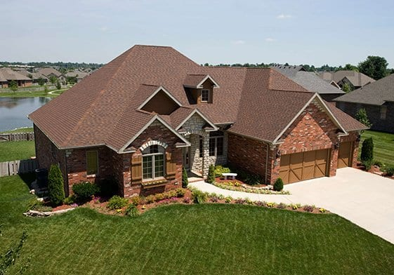 Completed Roofing Project in Rustic Hickory Shingle Color