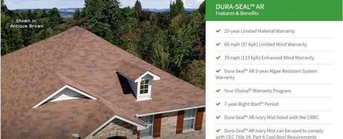 Malarkey Dura-Seal AR NEX shingles