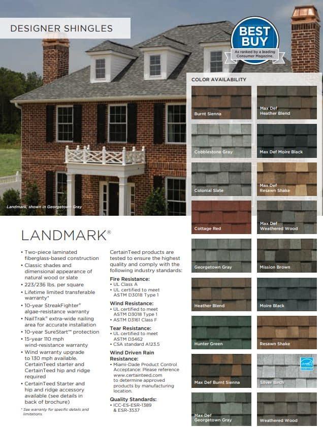 Landmark Designer Shingles By Roofing TX
