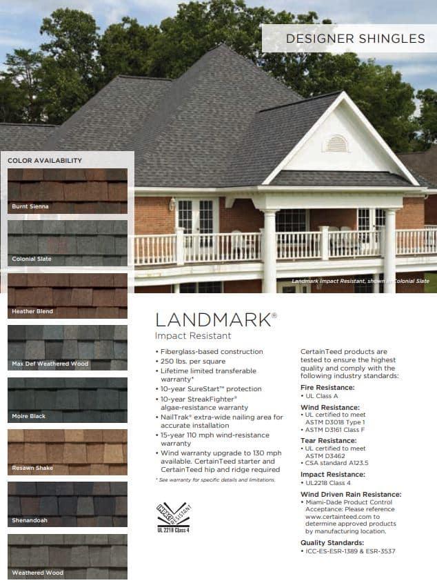 landmark ir designer shingles