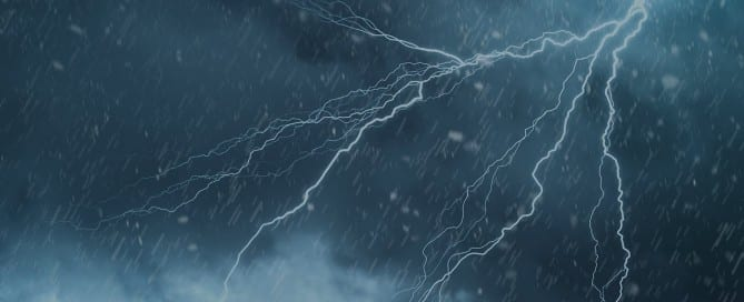 Lightning Storm in Sky