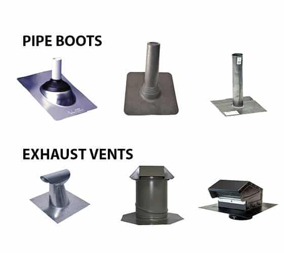 Pipe Boots & Exhaust Vents by Roofing TX
